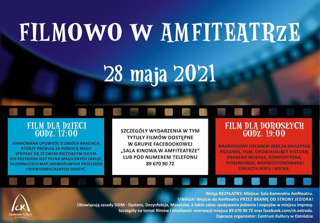 W TEN PIATEK (28/05/2021) W AMFITEATRZE BĘDZIE MOŻNA BEZPŁATNIE OBEJRZEĆ FILMY