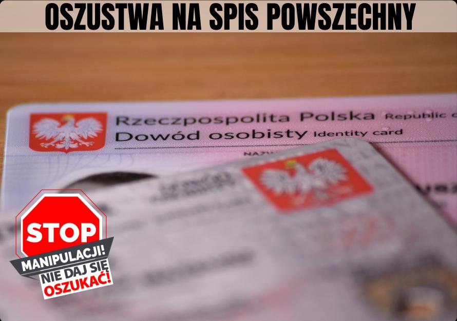 NARODOWY SPIS POWSZECHNY - UWAGA NA OSZUSTÓW!