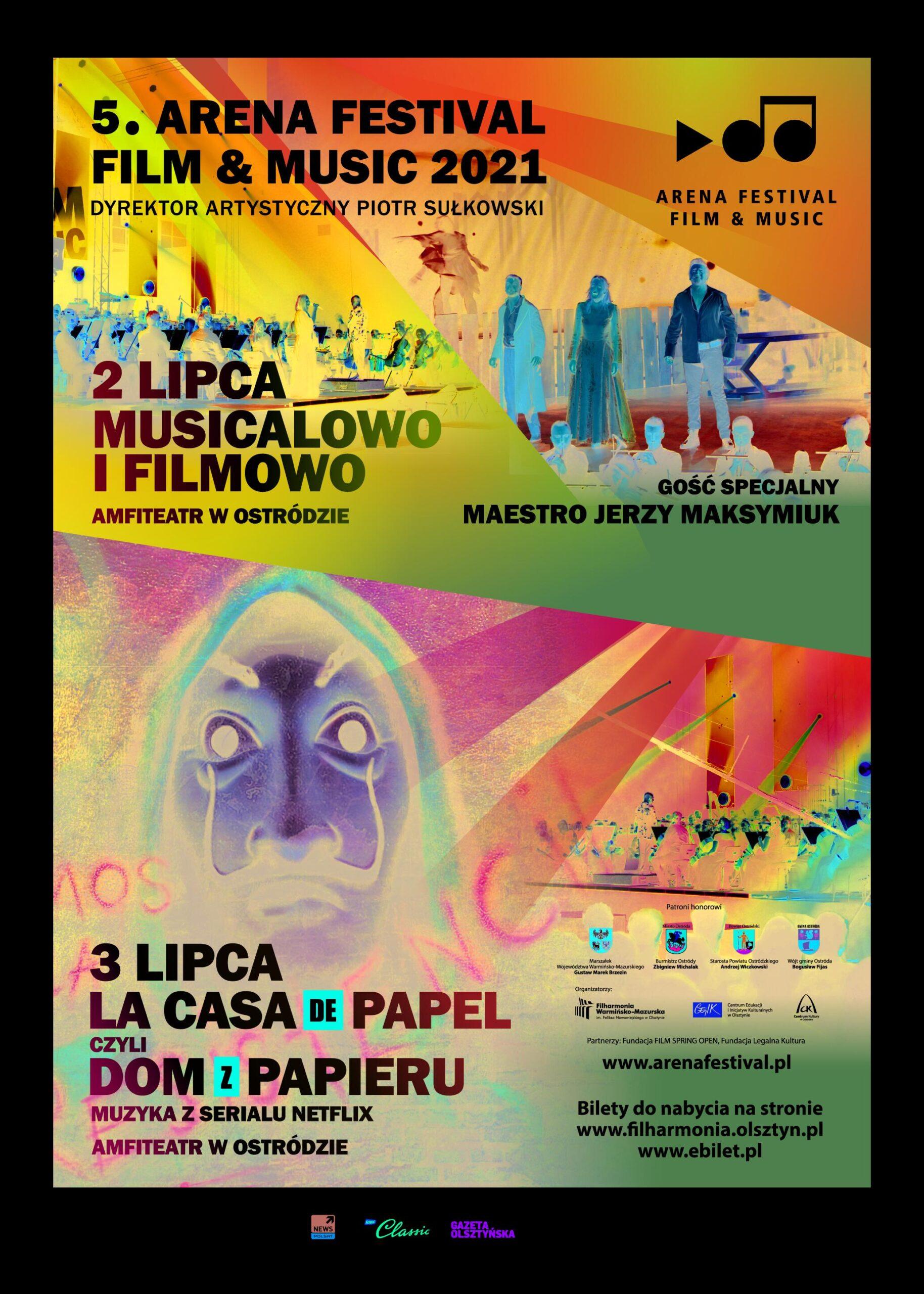 ARENA FESTIVAL FILM & MUSIC JUŻ 2 I 3 LIPCA W OSTRÓDZIE